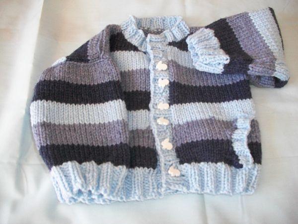 Knitting Pattern No.46 Prem-3 months Boy's Cardigan with Pockets
