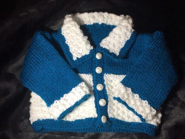 Knitting Pattern No.49 Prem-3 Months Collared Cardigan