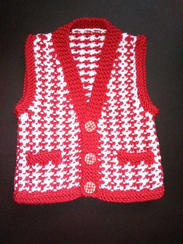 Knitting Pattern No.55 Premature 3lb - 3 Months Boy's Casual Waistcoat