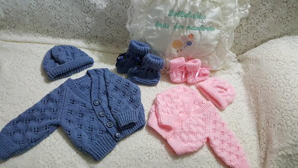 Knitting Pattern No.62 - Newborn - 6 Months Lacy Cardigan Set
