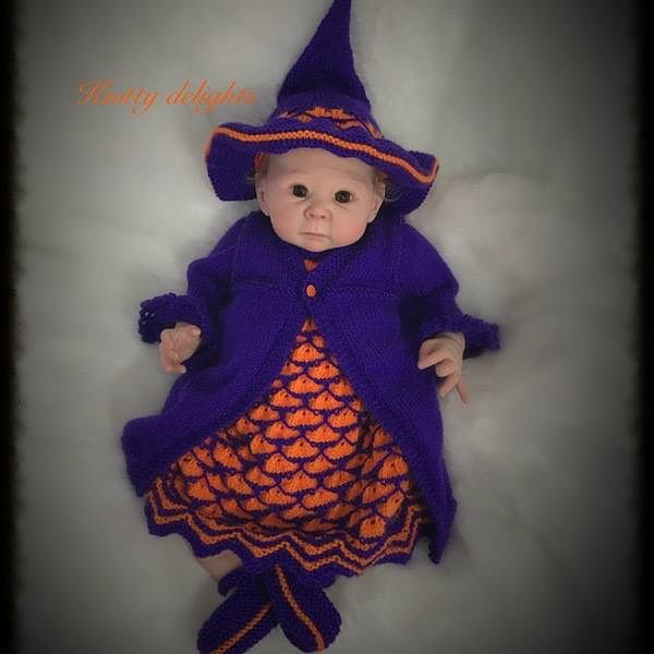 Knitting Pattern No.68 - Girl's Halloween Outfit
