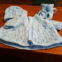 Knitting Pattern No.71 Sideways Yoked Matinee Set