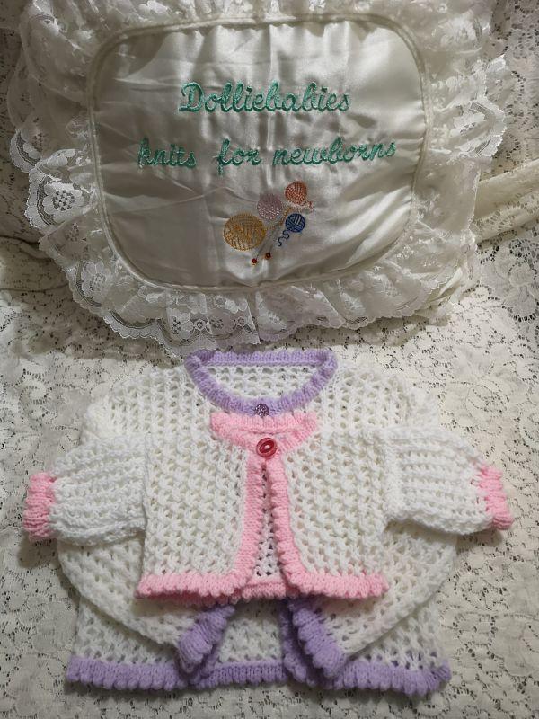 Baby or Reborn Layette Knitting Pattern