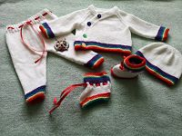Knitting Pattern No.76 - Boy's Kimono Style Rainbow Cardigan Set