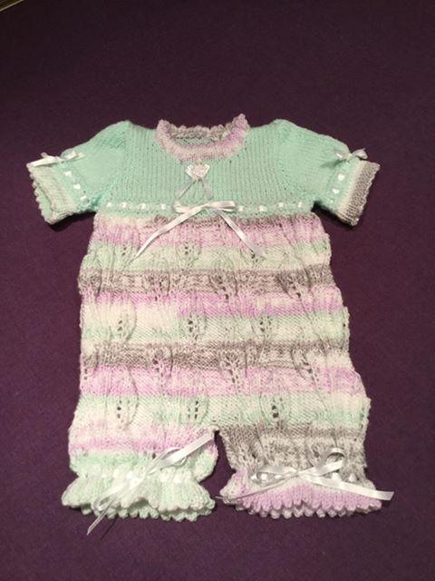 Baby or reborn doll Romper/onesie knitting pattern 38
