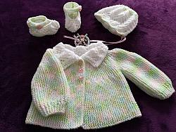 Knitting Pattern No.86 - Sideways Knitted Sunday Best Cardigan Set