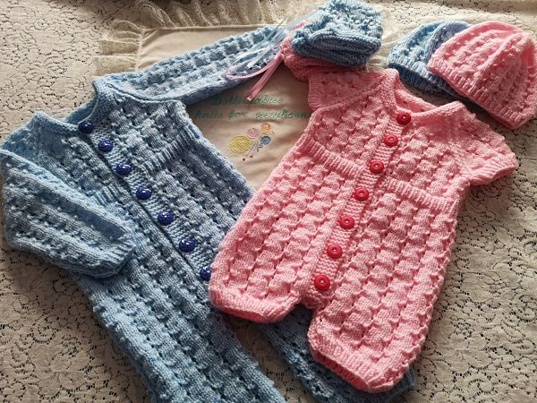 Premature to 6 Months Baby Romper Knitting Pattern
