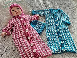 Knitting Pattern No.85 Chunky Sleeping Bag for 0-3 Months