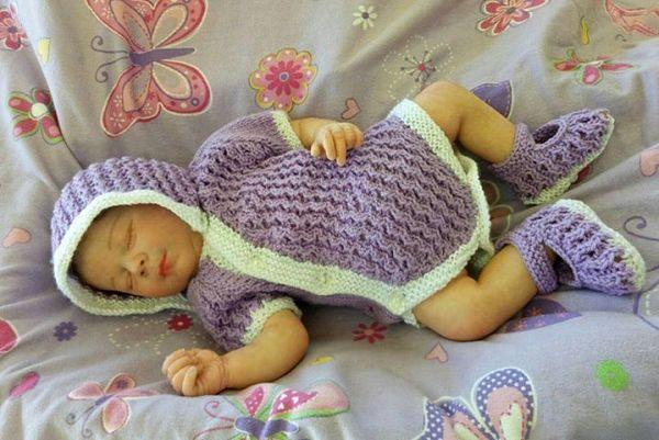 Baby or Reborn Doll Side buttoning vest, onesie, bodysuit knitting pattern