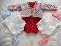 Knitting Pattern No.13 DBRW Boy's & Girl's Prem - 3 Month Size Vest and Cardigan Set