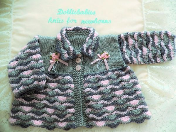 Cro-Knit 1 Prem-3 Month Girl's Matinee Set