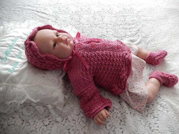 Knitting Pattern No.53 Premature 3lb - 3 Months Girls Lacy Cardigan Set