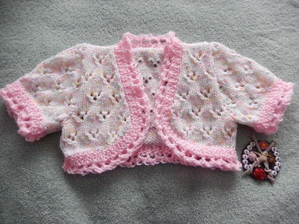 Knitting Pattern No.54 Premature 3lb - 3 Months Girls Lacy Bolero