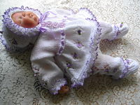Knitting Pattern No.08 Premature Girl's Matinee Set