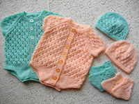 Knitting Pattern No.12 Newborn Size Vest Set