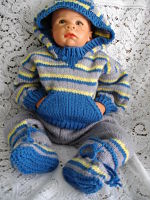 Knitting Pattern No.14 Unisex 0-3 Month Old Track Suit