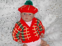 Knitting Pattern No.20 Newborn Tartan Jacket & Tam O Shanter