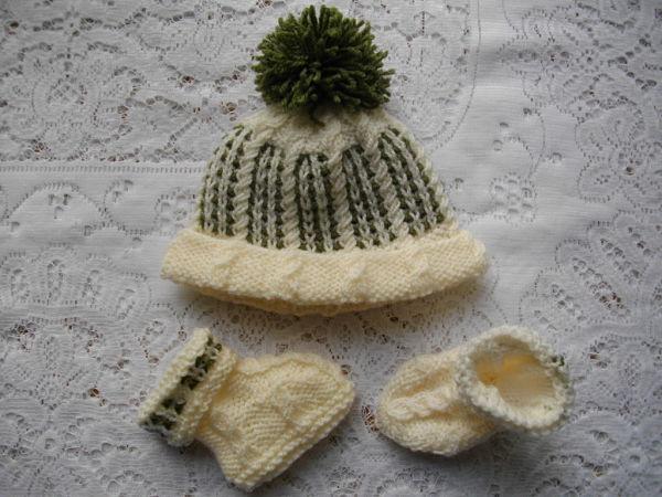 "Knitting Pattern No.21 Newborn Baby Boy upto 10lb or 18-20"" Reborn Matinee Set"