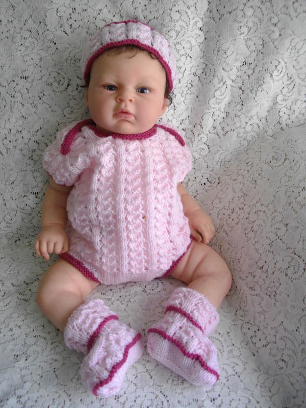 """Knitting Pattern No.26 Body Suit for 15-22"""" Reborn Dolls"""