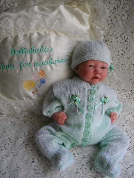 Knitting Pattern No.28 Micro Preemie - 0/3 Months Unisex All in One