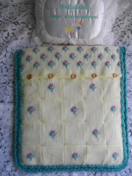 Knitting Pattern No.31 Girl's Reversible Pram Quilt