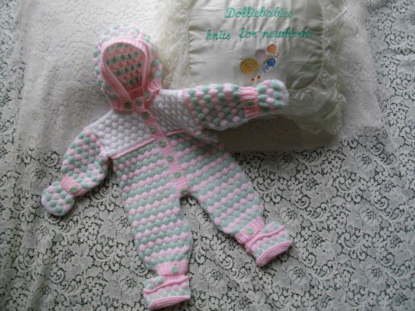 """Knitting Pattern No.32 for a 15-22"""" Reborn Snow Suit"""