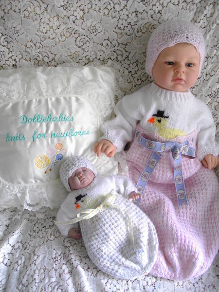 Knitting Pattern No.33 Micro Preemie/0-3 Months Chick In An Egg Cocoon Set