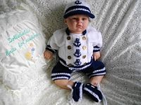 Knitting Pattern No.36 Preemie-0/3 Months Boys Sailor Suit