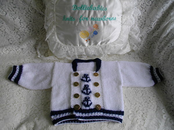 Knitting Pattern No.36 Preemie-0/3 Months Boys Sailor Suit