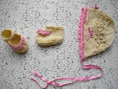 """Knitting Pattern No.39 Dress & Jacket Set for prem-3 month baby or 15-22"""" Reborn"""