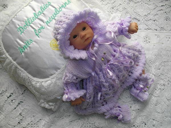Knitting Pattern No.41 - Micro Preemie Dress Set