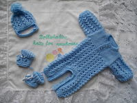 Knitting Pattern No.42 - Micro Preemie Boy's Romper Set