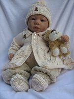 0-3 Month boys matinee set knitting pattern no. 3
