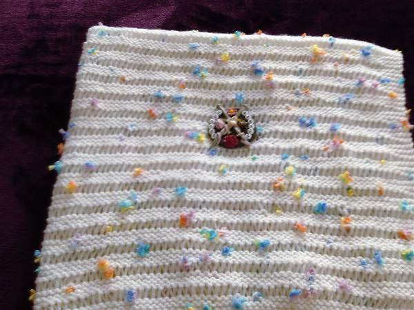Knitting Pattern No.58 - Learn to knit this beginners baby blanket PDF ONLY
