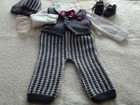 Knitting Pattern No.61 Newborn-6 Months Boys Formal Suit