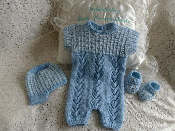 Knitting Pattern No.66 Boy's Summer Romper Set