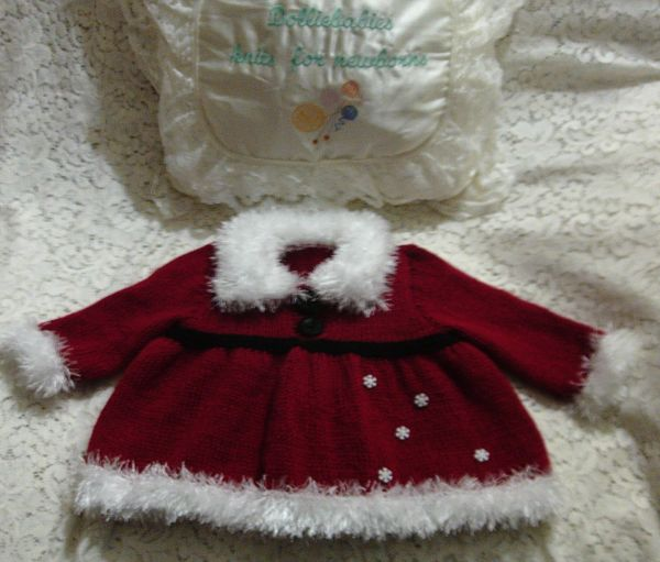 Knitting Pattern No.70 Christmas Angel Top Set