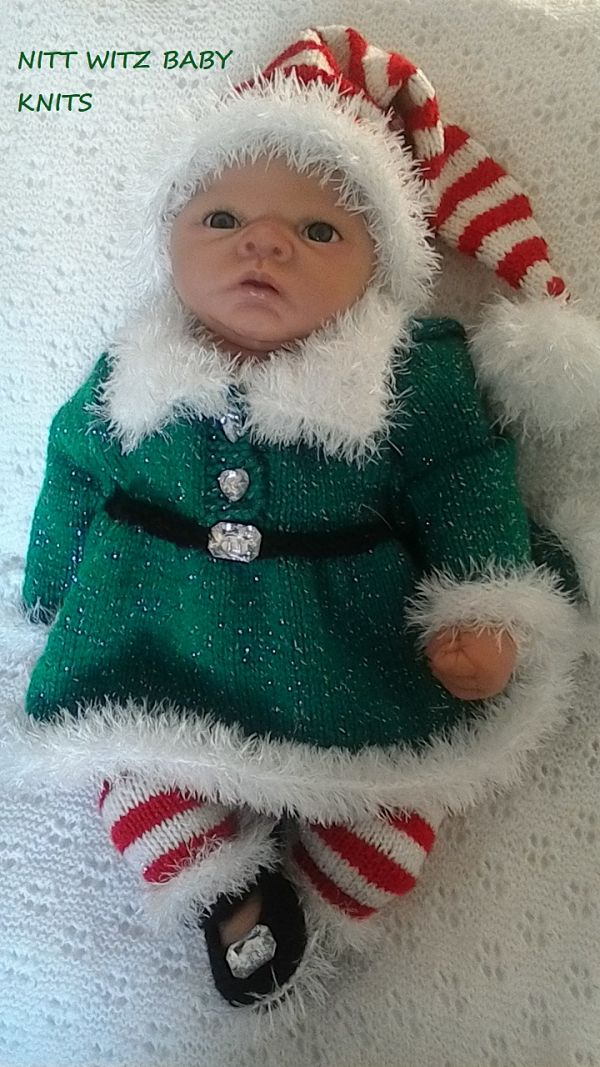 Knitting Pattern No. 70 knitted as an elf outfit