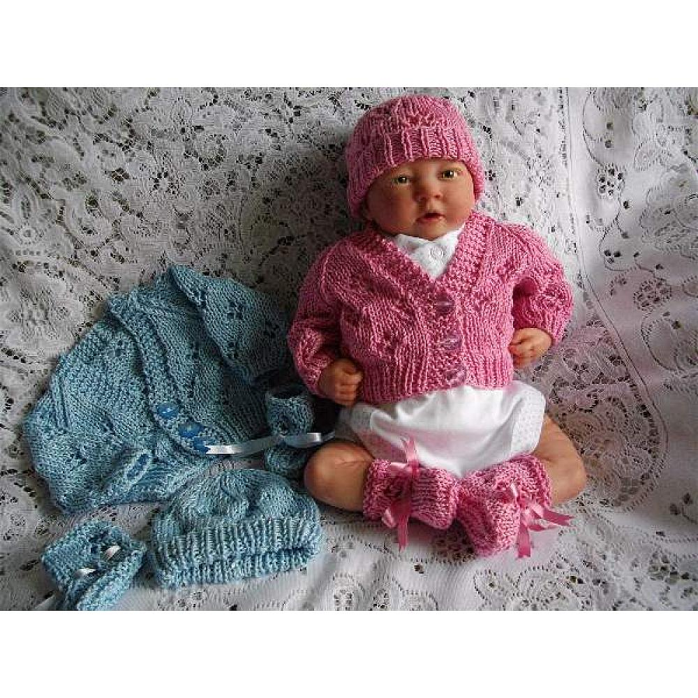e6a0e4a9f25c premature baby boy and girl knitting pattern for a lacy cardigan ...