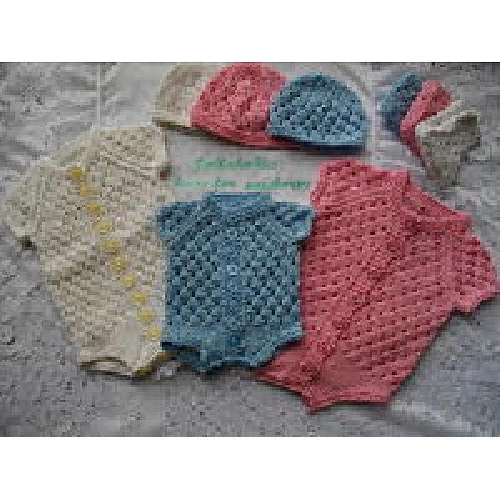fa04ac69 Knitting Pattern Book No. 1 Short Sleeve Button Up Eyelet ...
