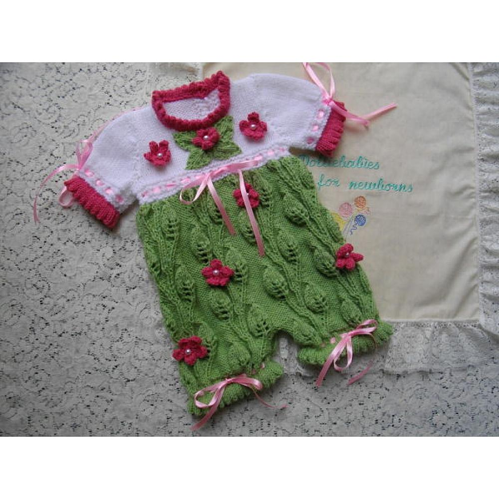 An Advanced Knitting Pattern For A Baby Girl Or Reborn Dolls All In