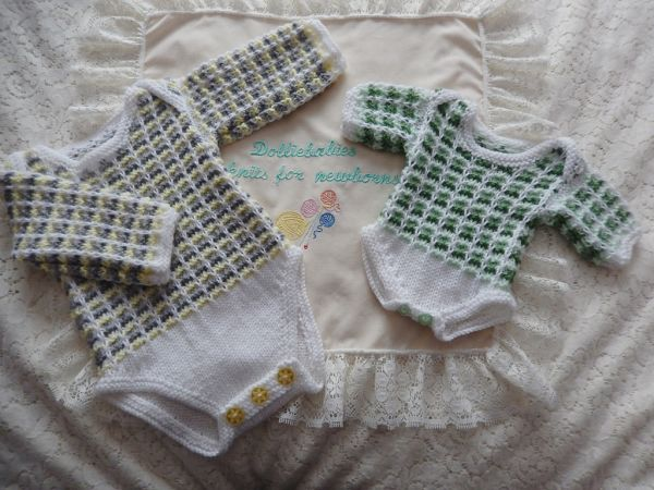 Baby Or Reborn Doll Knitting Pattern For A Unisex Layette