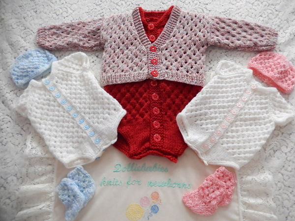 Knitting Pattern For Ruffle Baby Vest : DollieBabies
