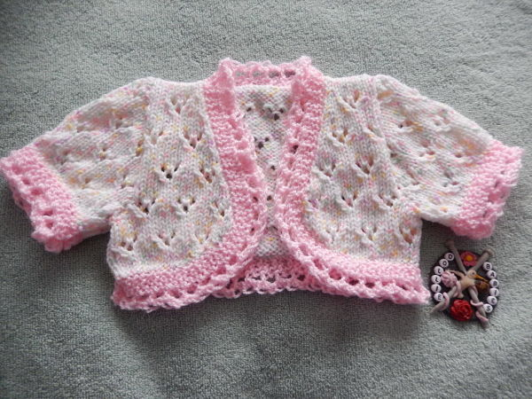 3lb Premature Baby Through To 3 Month Old Baby Bolero Knitting Pattern
