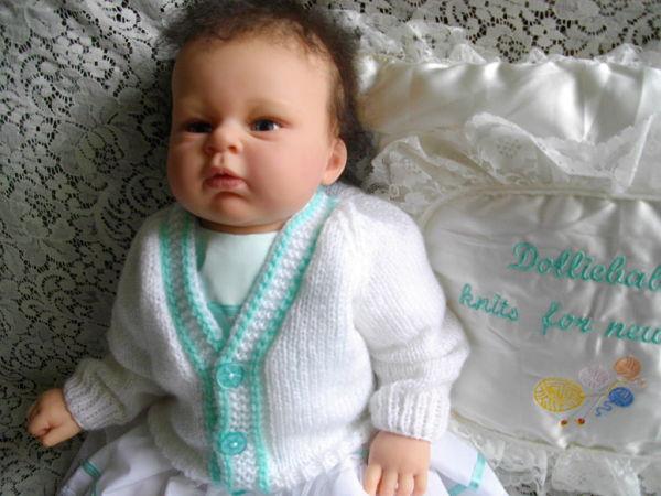 Knitting Pattern Child s Raglan Sweater : DollieBabies