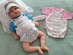knitting pattern 87  dungaree style romper