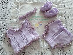 Knitting Pattern 89 Eyelet lace vest and knickers set