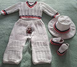 knitting pattern 098 no cable cricket set