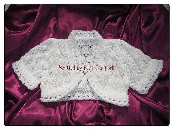 knitting pattern 54 girls lacy bolero