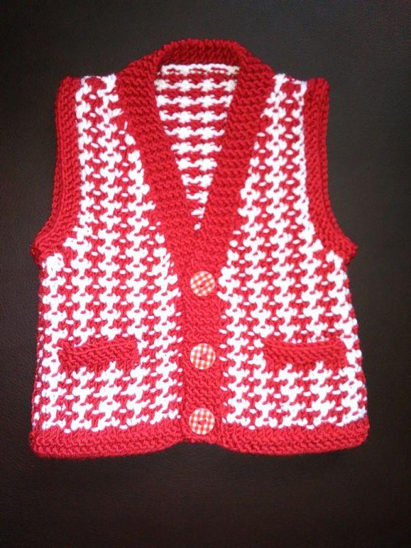 Knitting Pattern 055 Boys casual waistcoat